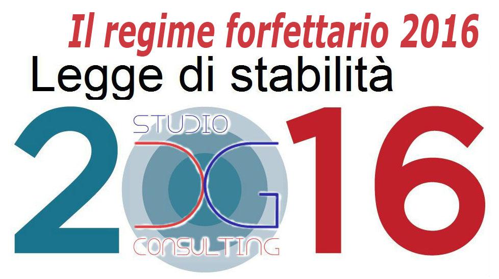 Regime forfettario 2016